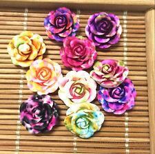 hot 20pcs MIX Resin Rose Flower flatback Appliques For phone/wedding/crafts