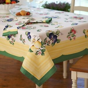 "Villeroy & Boch FRENCH GARDEN 68"" x 126"" Oblong Tablecloth"