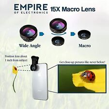Brand New Cell Phone Camera Lens Kit for iPhone, Samsung & Android 3 in 1