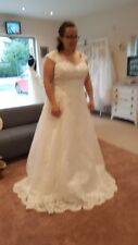 Plus size ivory wedding dress, size 22