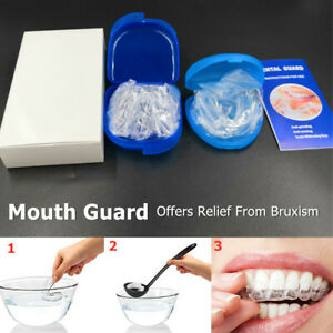 Pack of 4 Moldable Mouth Guard for Teeth Grinding Clenching Bruxism Custom Fit