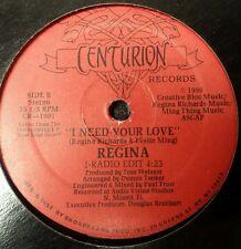 "Track You Down by Regina Rare12"" Freestyle Pristine condition Centurion Records"