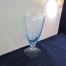 SET OF FOUR - Fostoria Crystal VERSAILLES BLUE Iced Tea Glasses