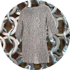 Antique Hubergion Half Sleeve XL Size Shirt Chainmail Flat Riveted With Washer