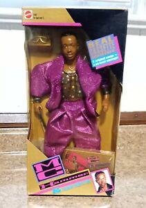 MC Hammer Action Figure Doll & Cassette Tape Set, Purple #1090 Mattel 1991 NIB