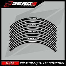 "EXCELL A60 MOTOCROSS RIM DECALS GRAPHICS MX STICKERS 21"" 19"" BLACK"