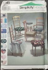 Vintage Simplicity House 7749 Chair Pads and Place Mats