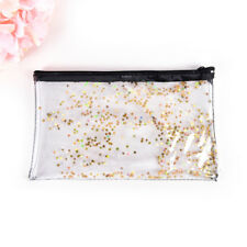Women Colorful Star Jelly Transparent Pencil Case Cosmetic Bag Makeup Pouch 0h Gold