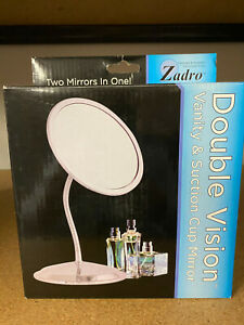 ZADRO DOUBLE VISION Vanity & Suction Cup Mirror - 10x & 5x MAGNIFICATION