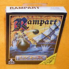 Vintage 1992 Atari Lynx Handheld Rampart Video Game Card Boxed Factory