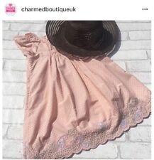 Spanish Romany Athena Dusty Pink Summer dress ex M&S