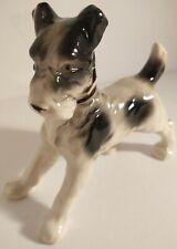 Vintage Terrier Black-and-white Dog Figurine Japan