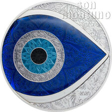 EVIL EYE SILVER COIN - 2020 Palau $5 Dollar - 1 Oz Proof in Display Box with COA