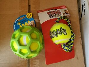 Kong SqueakAir ball rope & Hol-ee Roller LOT