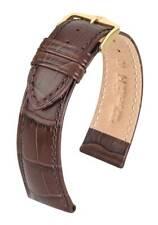 Hirsch Duke 20 mm brown watch strap, size L