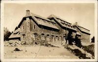 RPPC Oregon Crater Lake Natl Park Lodge ~ 1936 real photo postcard sku127