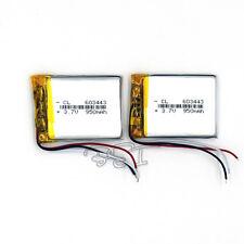 Li-polymer Rechargeable Battery Li-Po 3-wire 3.7V 950 mAh  603443 for GPS  2PCS