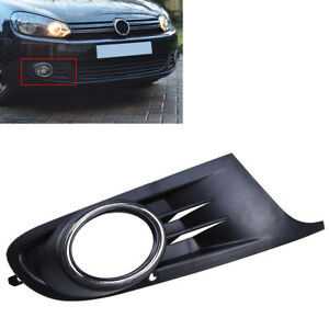 Right Side Front Bumper Fog Light Grille Cover Trims For VW Golf MK6 2010-2014