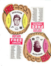 4 Card Lot 1977 Pepsi-Cola  Baseball Discs w/ Baseball Gloves In NM Condition