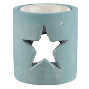 Blue Eden Christmas Star Essential Oil fragrance concrete Burner 10.5 cm