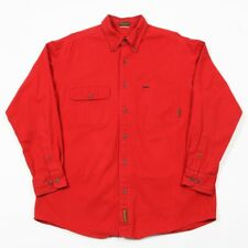TIMBERLAND Thick Cotton 'Rugged Fit' Long Sleeve Shirt | Mens M | Vintage Heavy