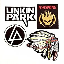 4 Pieces Rock Band Embroidered Sew/ Iron On Patches Linkin Park The Offspring