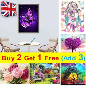 Full Drill DIY 5D Diamond Painting Embroidery Decor Cross Stitch Kits UK E