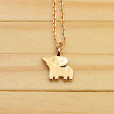 necklace and elephant pendant 18 kt gold plated