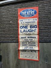 More details for variety theatre poster 1934,burnley victoria, dave morris,harry vardon,
