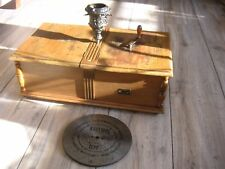 "Antique Germany Christmas Music Box 10 Discs 9 1/4"" weihnachtsbaumständer 1900"