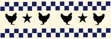 Stencil Chickens Checks Stars Wall Border