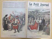 Le petit journal 1893 121 Mi-carême cortège étudiants reine blanchisseuse