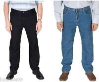 Carabou Mens Jeans Straight Regular Fit Tough Casual Jeans W 30 to W 60