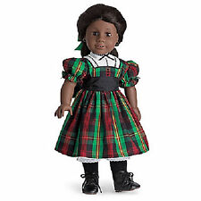 American Girl ADDY CHRISTMAS DRESS & Ribbon Green Plaid Holiday Hair NEW