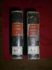 Nouveau Dictionnaire Portatif Francois-Italien 2 Bd frühes Wörterbuch v. 1819 EA