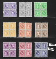 Complete MNH 1945 Stamp block set / Occupied Germany / Allied Military Post