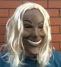 The Purge 1 Movie Costume Horror Fancy Dress Up Mask Halloween with Blond Hair