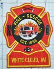 MICHIGAN, WHITE CLOUD FIRE DEPT RESCUE PATCH