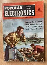 Popular Electronics Magazine August 1955 - VTG