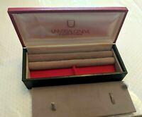 Vintage Universal Geneve Long Red & Black Wrist Watch Box w/ Jewelry Box Also KK