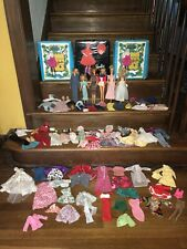 Huge Vintage Barbie Collection Lot 6 Dolls, Cases Tons of Clothes Accessories