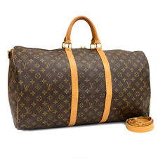 Auth LOUIS VUITTON Monogram Keepall Bandouliere 55 M41414 Traveling bag Brown