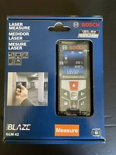 Bosch Glm 42 Blaze 135 Ft Laser Measure Free Shipping Brand New Color Display