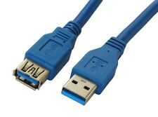 Premium Quality Blue 6 Ft 6 Feet USB 3.0 A Male/Female Extension Cable