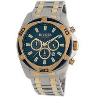 Invicta Men's Watch Bolt Chronograph Blue and Gold Tone Dial Bracelet 34125