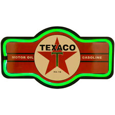 """NEW Texaco Logo Rope Light LED Sign - 17"""" Wide Neon Effect Retro Marquee Plaque"""