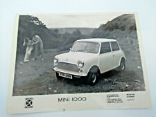 British Leyland Mini 1000  - press photograph