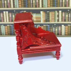 Dollhouse Miniature Wooden Library Steps / Bed Steps