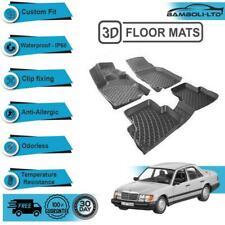 3D Molded Interior Car Floor Mat for Mercedes E Class W124(Black)