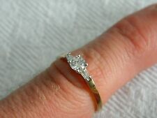 9ct Yellow Gold 1/3ct 33pt Diamond Ring size L